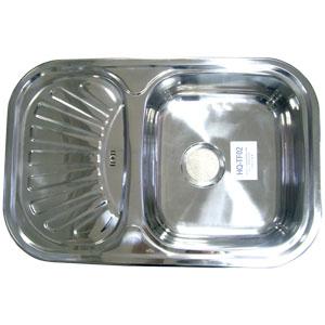 Мойка ТеТус-ЭКОНОМ хром 0,8мм HQTF02-180