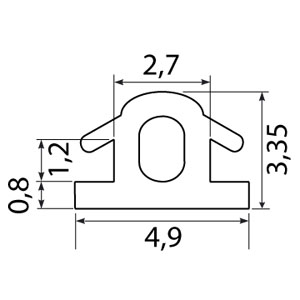 Профиль рамочный 5,6м PF2019 черный
